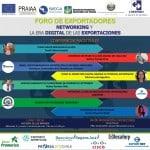Afiche de invitación a la jornada sobre networking en la era digital